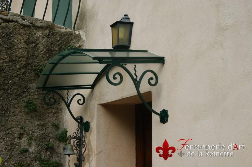 Vente Marquise En Fer Forge Et Grille Porte Ferronnerie Aix En - Marquise de porte ancienne